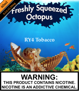 Freshly Squeezed Octopus Freshly Squeezed Octopus - RY 4 Tobacco (RY4) (60ML)