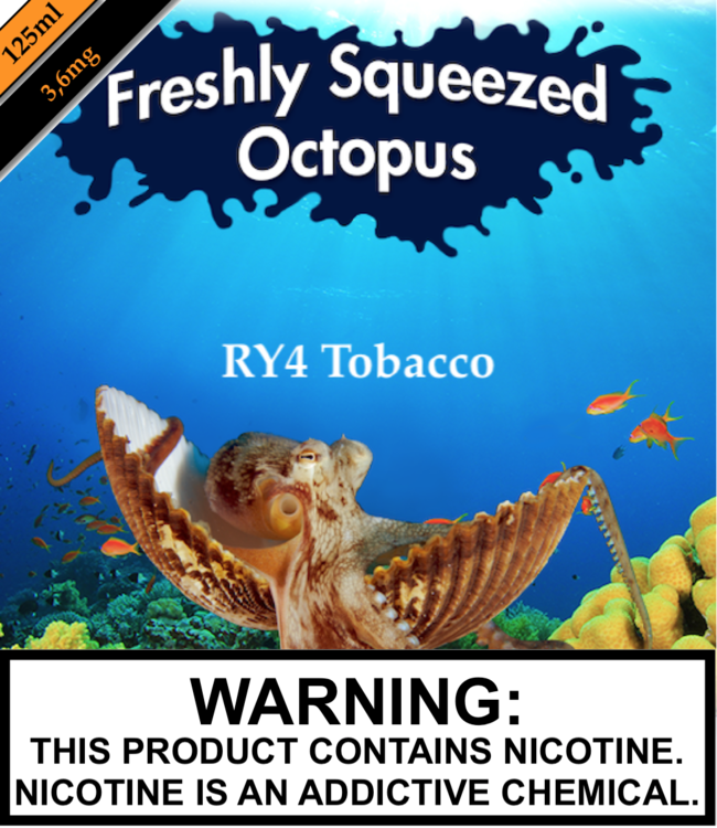 Freshly Squeezed Octopus Freshly Squeezed Octopus - RY 4 Tobacco (RY4) (125ML)