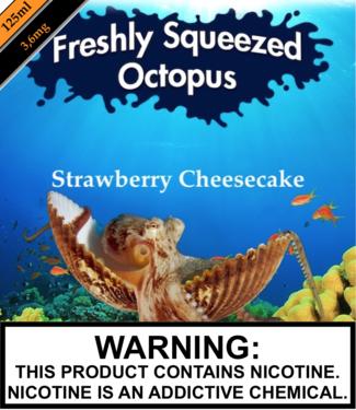 Freshly Squeezed Octopus Freshly Squeezed Octopus - Strawberry Cheesecake (125ML)