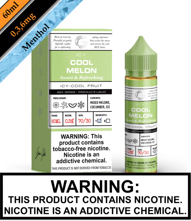 BSX by Glas (TFN) - Icy Cool Melon (60ML)