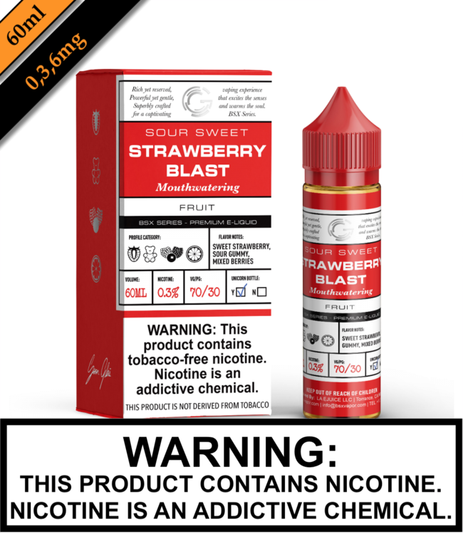BSX by Glas (TFN) - Strawberry Blast (60ML)