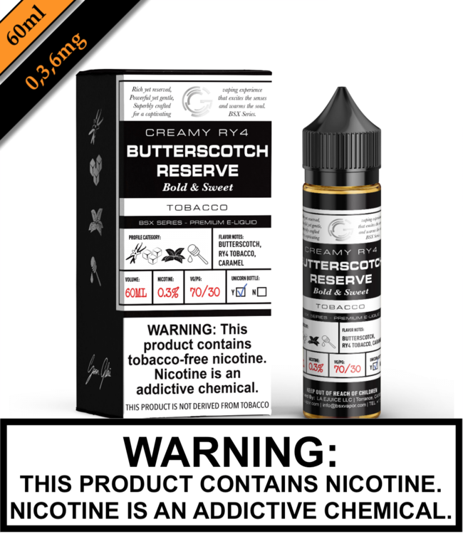 BSX by Glas (TFN) - Butterscotch Reserve (60ML)