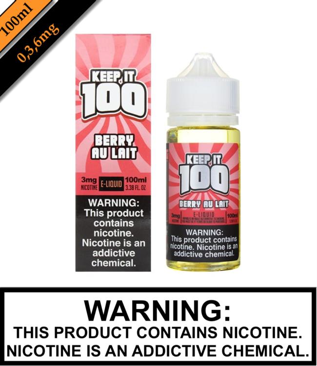 Keep It 100 Keep It 100 - Berry Au Lait (Previously Strawberry Milk) (100ML)