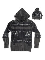 RDS ZIP SWEATER EAGLE HEART RD8587