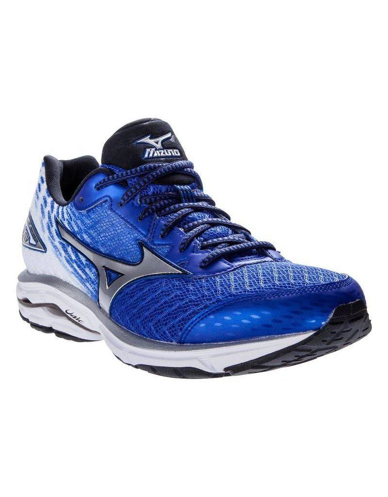 new arrival c2b34 2e4da Mizuno Mizuno M Wave Rider 19 Blue/White/Black