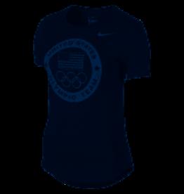 Nike Nike W USOC Dri-Blend Logo Tee Navy
