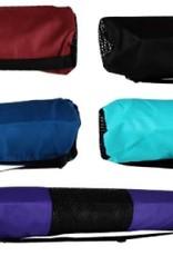 Nylon w/Mesh Yoga Mat Bag - Black