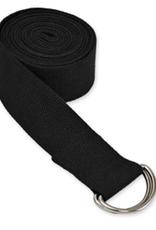 Yoga Accessories 10' D-Ring Yoga Strap - Black