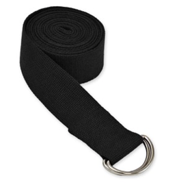 Yoga Accessories 10' D-Ring Yoga Strap - Black