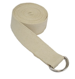Yoga Accessories 10' D-Ring Yoga Strap - Tan