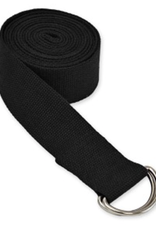 Yoga Accessories 8' D-Ring Yoga Strap - Black