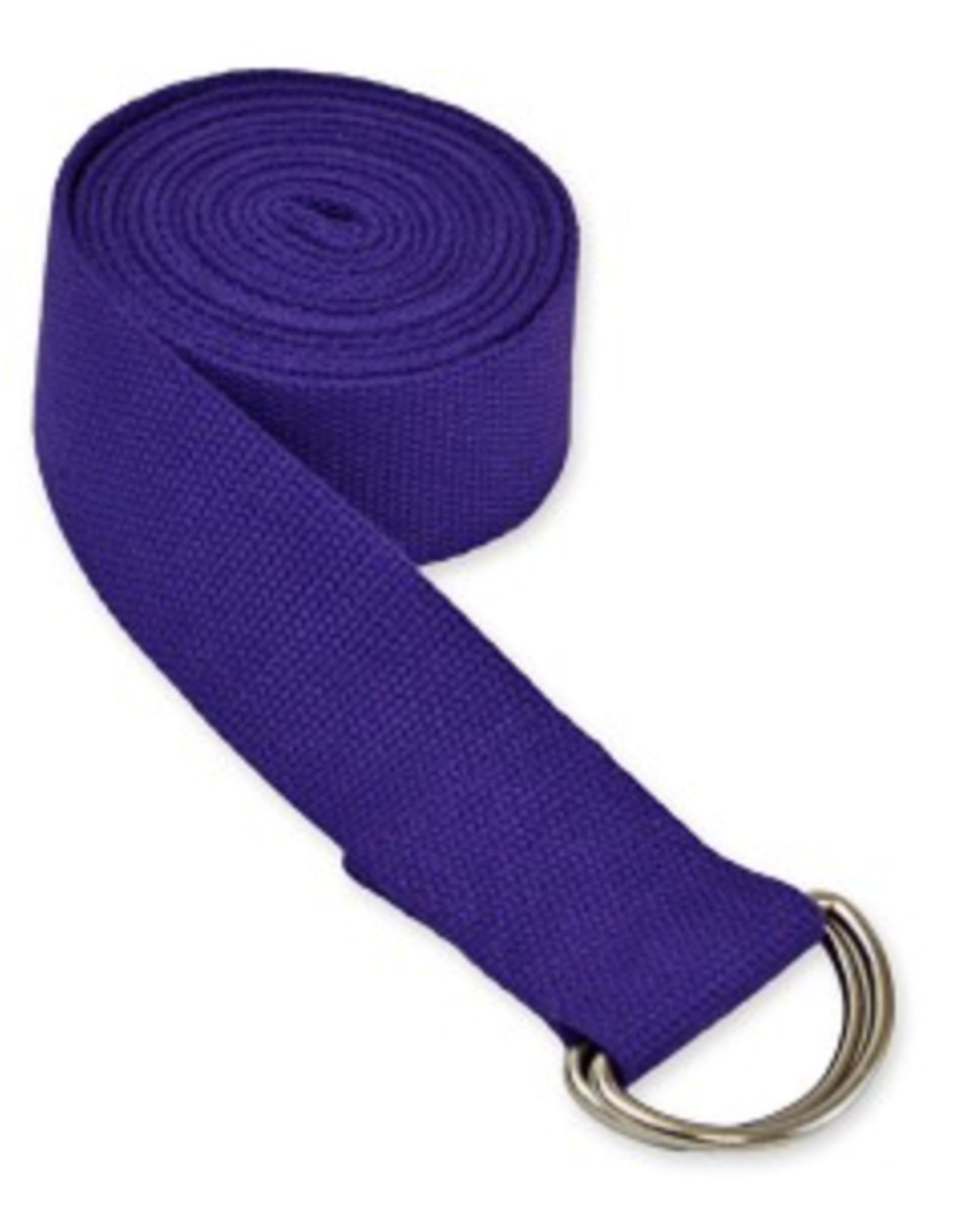 Yoga Accessories 8' D-Ring Yoga Strap - Purple