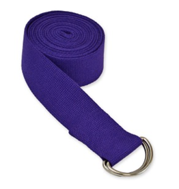 Yoga Accessories 8' D-Ring Yoga Strap - Purple