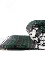 Yoga Accessories Mexican Blanket - Dark Green