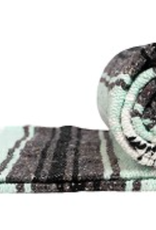 Yoga Accessories Mexican Blanket - Light Green