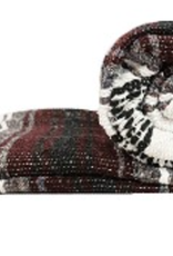 Yoga Accessories Mexican Blanket - Burgundy