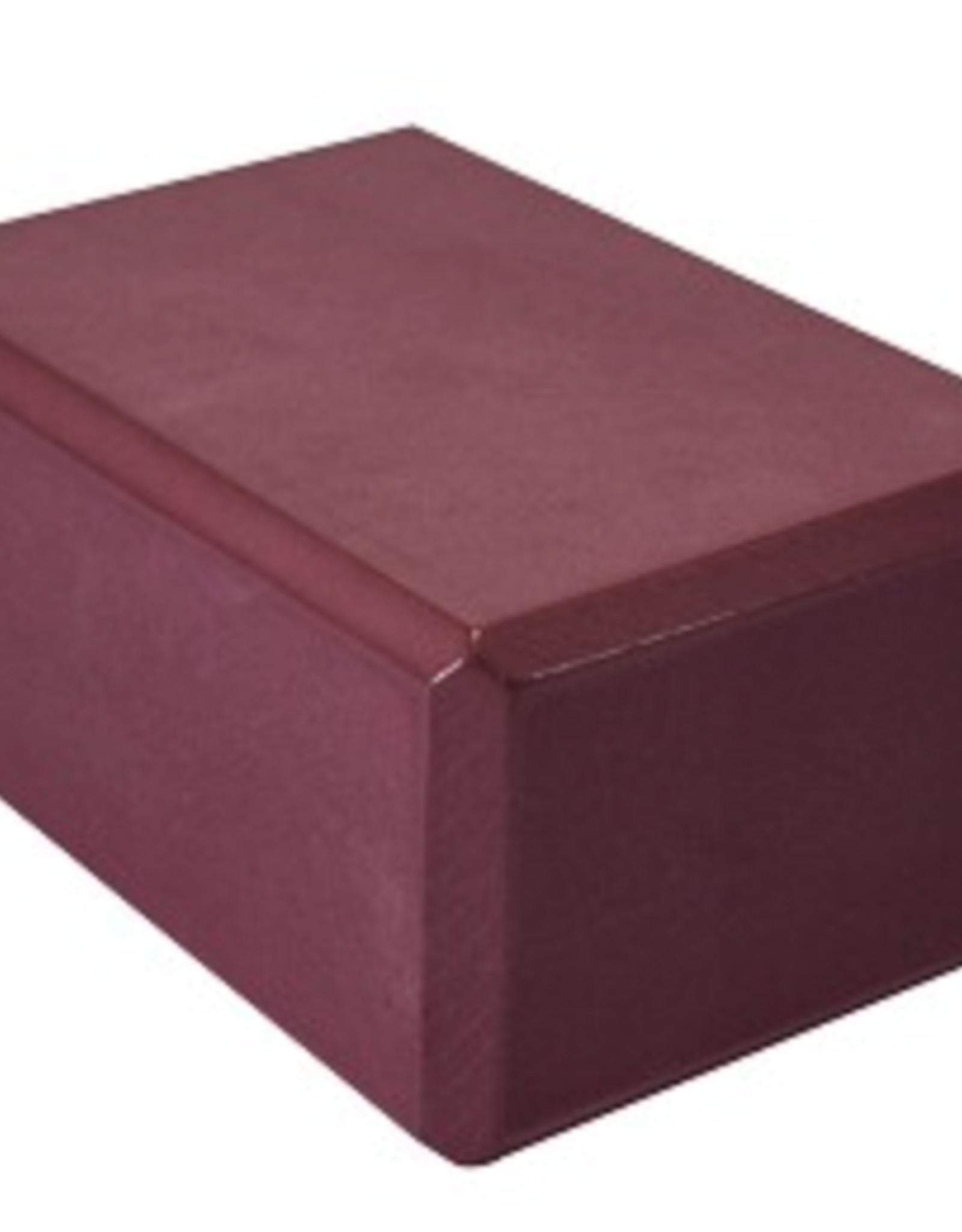 "4"" Yoga Foam Block - Burgundy"