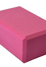 "Yoga Accessories 4"" Yoga Foam Block - Pink"