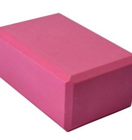 "Yoga Accessories 4"" Yoga Foam Block - Pink"