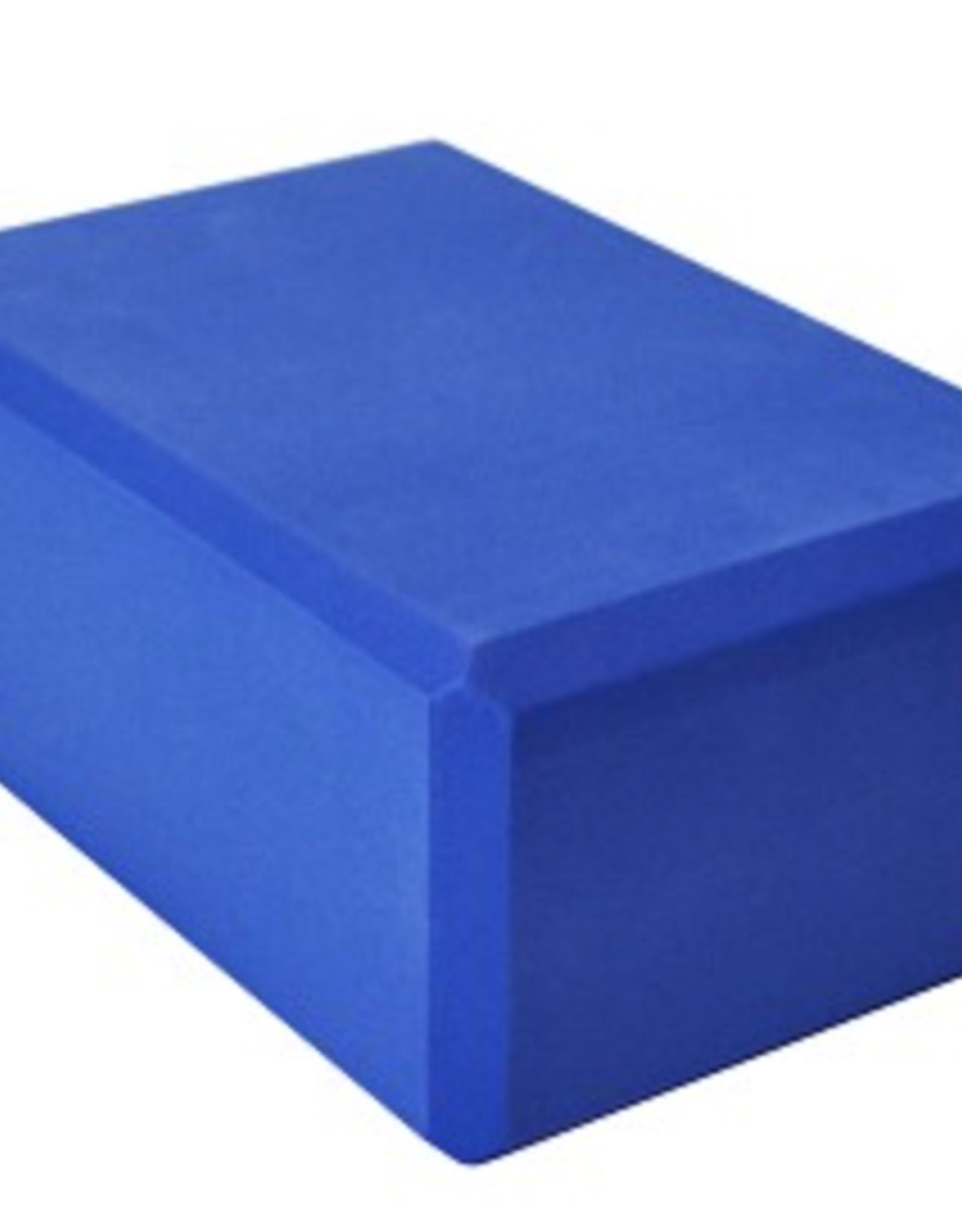 "Yoga Accessories 4"" Yoga Foam Block - Blue"