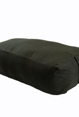 Yoga Accessories Rectangular Cotton Bolster - Black