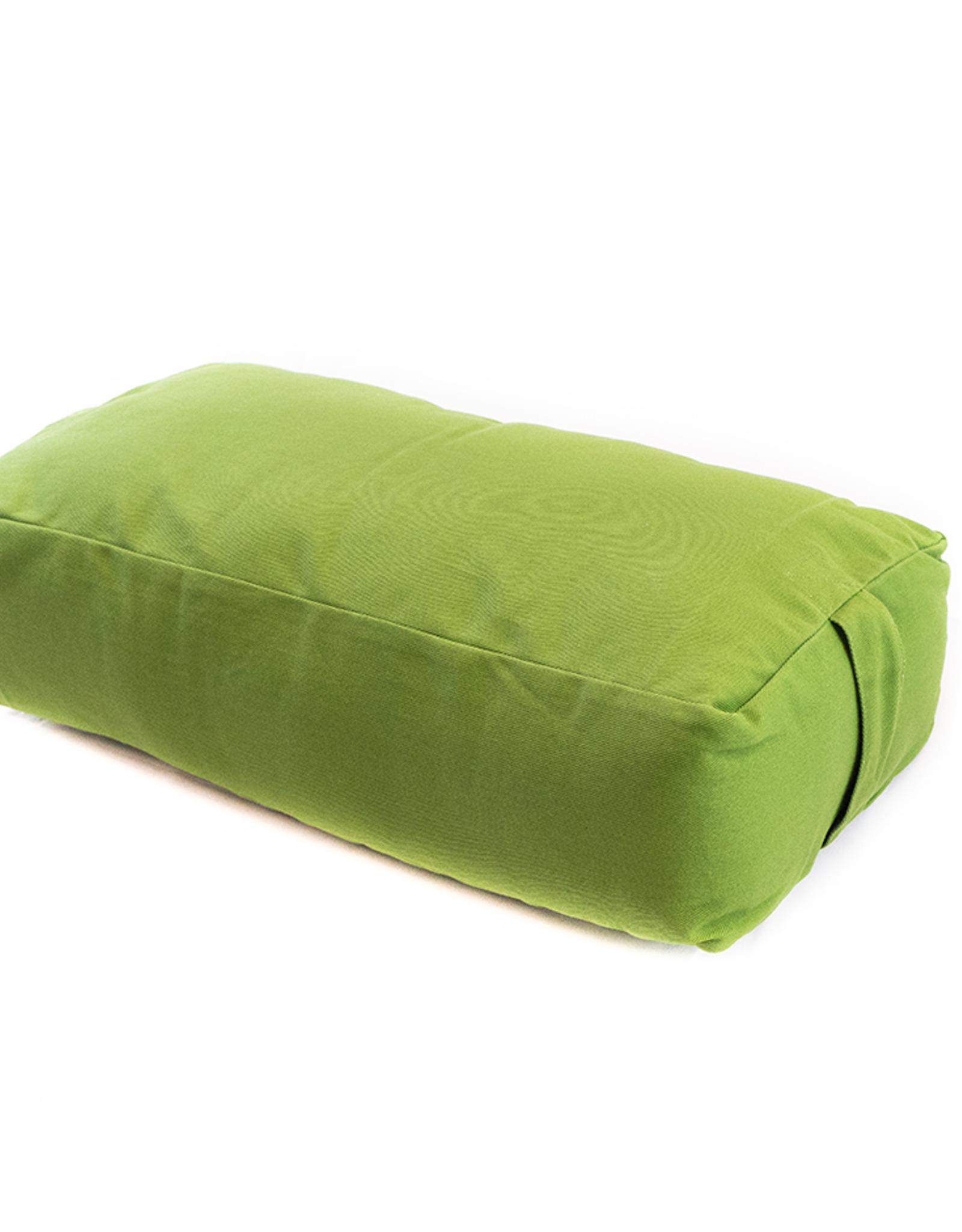 Yoga Accessories Rectangular Cotton Bolster - Olive Green