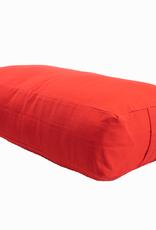 Yoga Accessories Rectangular Cotton Bolster - Cardinal Red