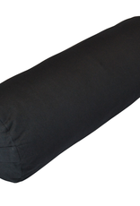 Yoga Accessories Round Cotton Bolster - Black