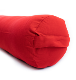 Yoga Accessories Round Cotton Bolster - Cardinal Red