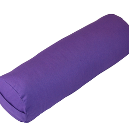 Yoga Accessories Small Round Cotton Bolster - Purple