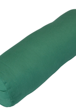 Yoga Accessories Small Round Cotton Bolster - Green