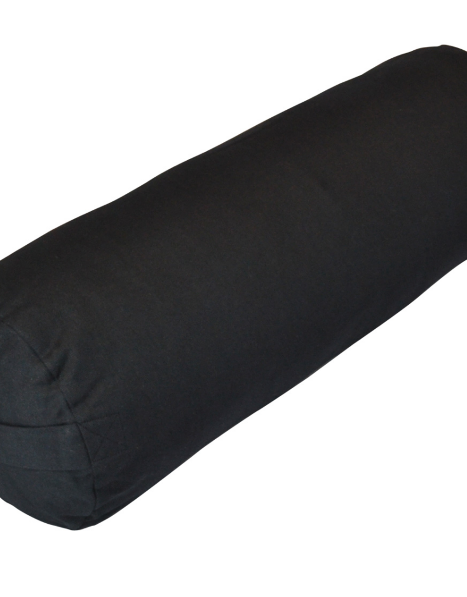 Yoga Accessories Small Round Cotton Bolster - Black