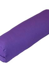 Yoga Accessories Round Cotton Bolster - Purple