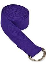 Yoga Accessories 6' D-Ring Yoga Strap - Purple