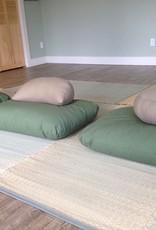 Carolina Morning Designs Buckwheat Crescent Zafu - Organic Moss