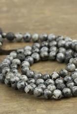 Japa Mala Japa Full Mala - Blue Labradorite + Lava Stone