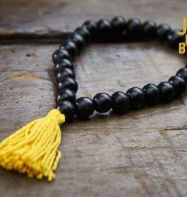 Japa Mala Ebony Wrist Mala - Small