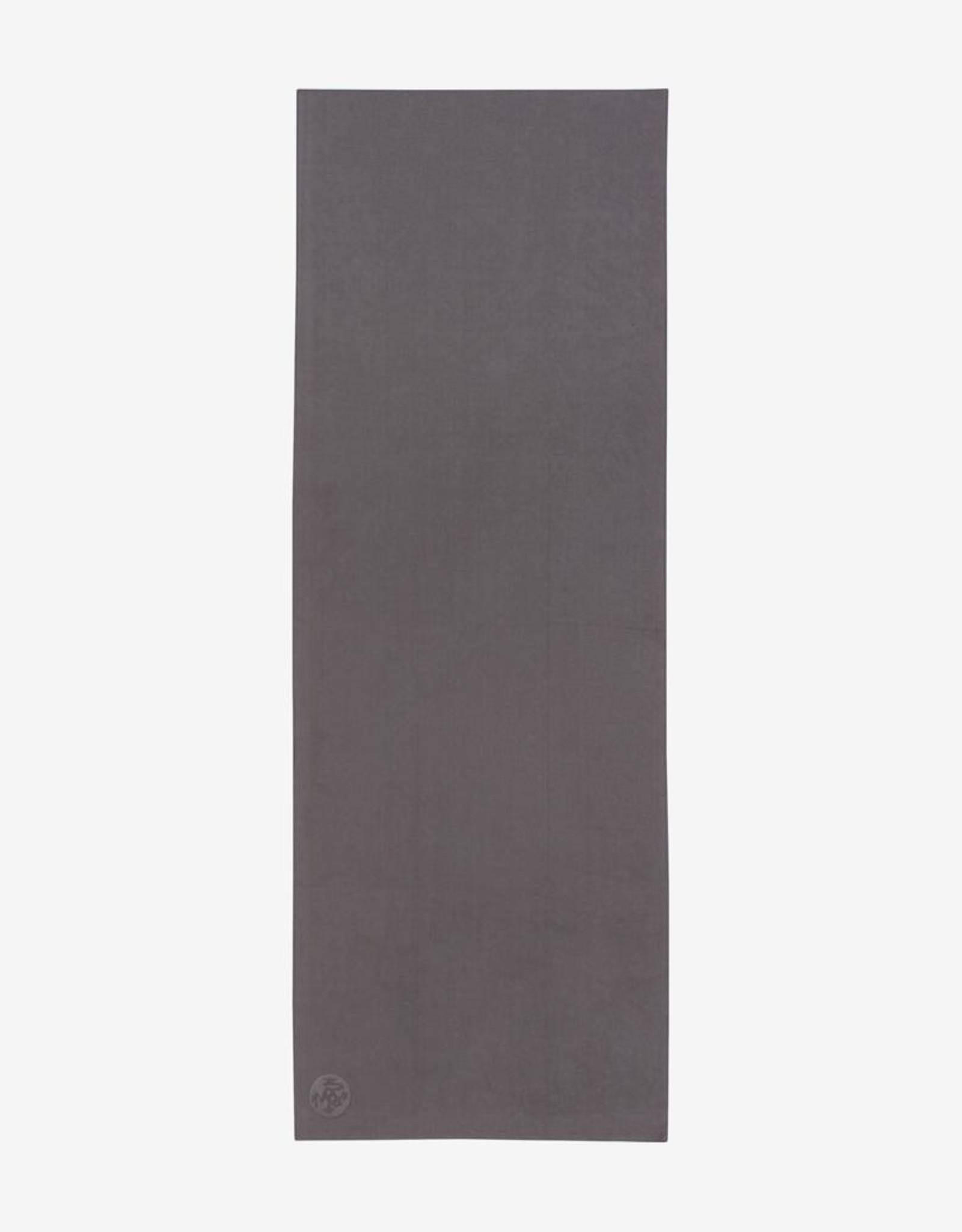 """Manduka eQua Mat Towel - Thunder (Grey) 72"""""""