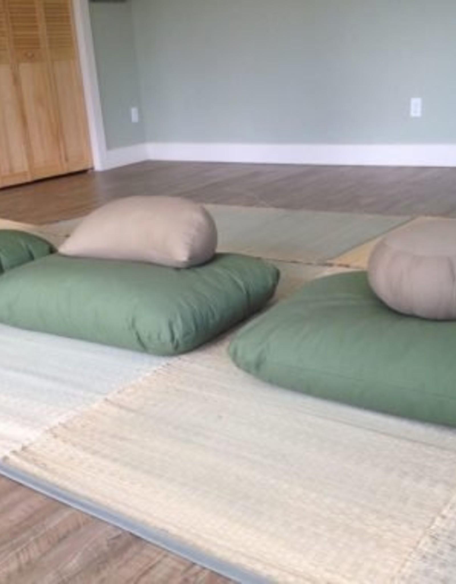 Carolina Morning Designs Buckwheat Crescent Zafu - Organic Indigo
