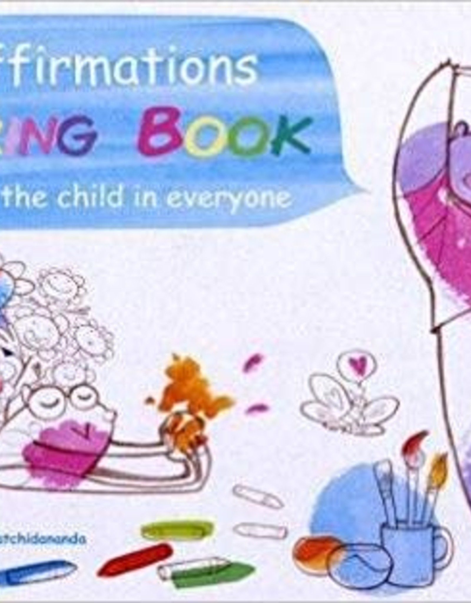 Integral Yoga Distribution Yoga Affirmations Coloring Book