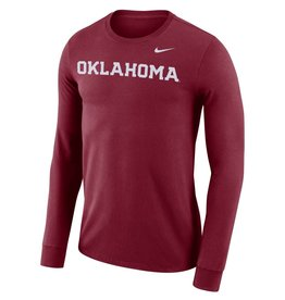 6137176fe Nike Men's Nike Dri-Fit Cotton Long Sleeve Wordmark Tee