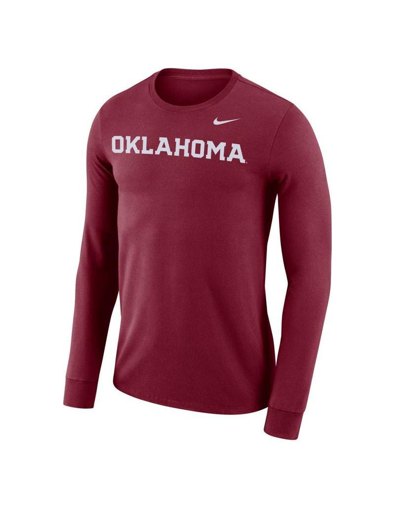 Men s Nike Dri-Fit Cotton Long Sleeve Wordmark Tee - Balfour of Norman b06817c3b7e1