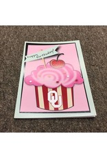 The Fanatic Group OU Cupcake Birthday Card