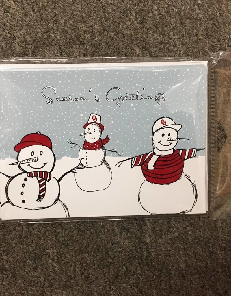 The Fanatic Group OU Snowman Christmas Card (10pk)