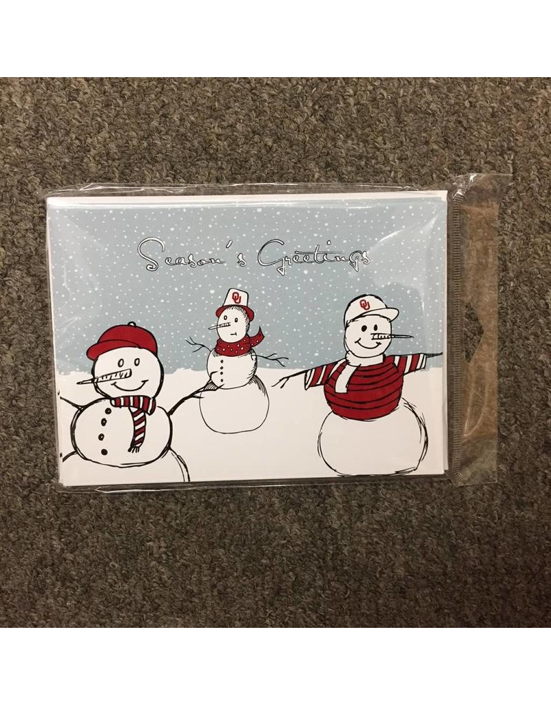 The Fanatic Group OU Snowman Christmas Card (10pk)