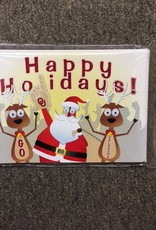 The Fanatic Group Santa & Reindeer Happy Holidays Christmas Card (10pk)