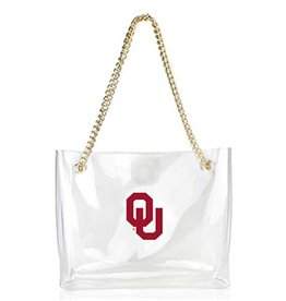 Desden Desden Clear OU Handbag w/ Gold Chain