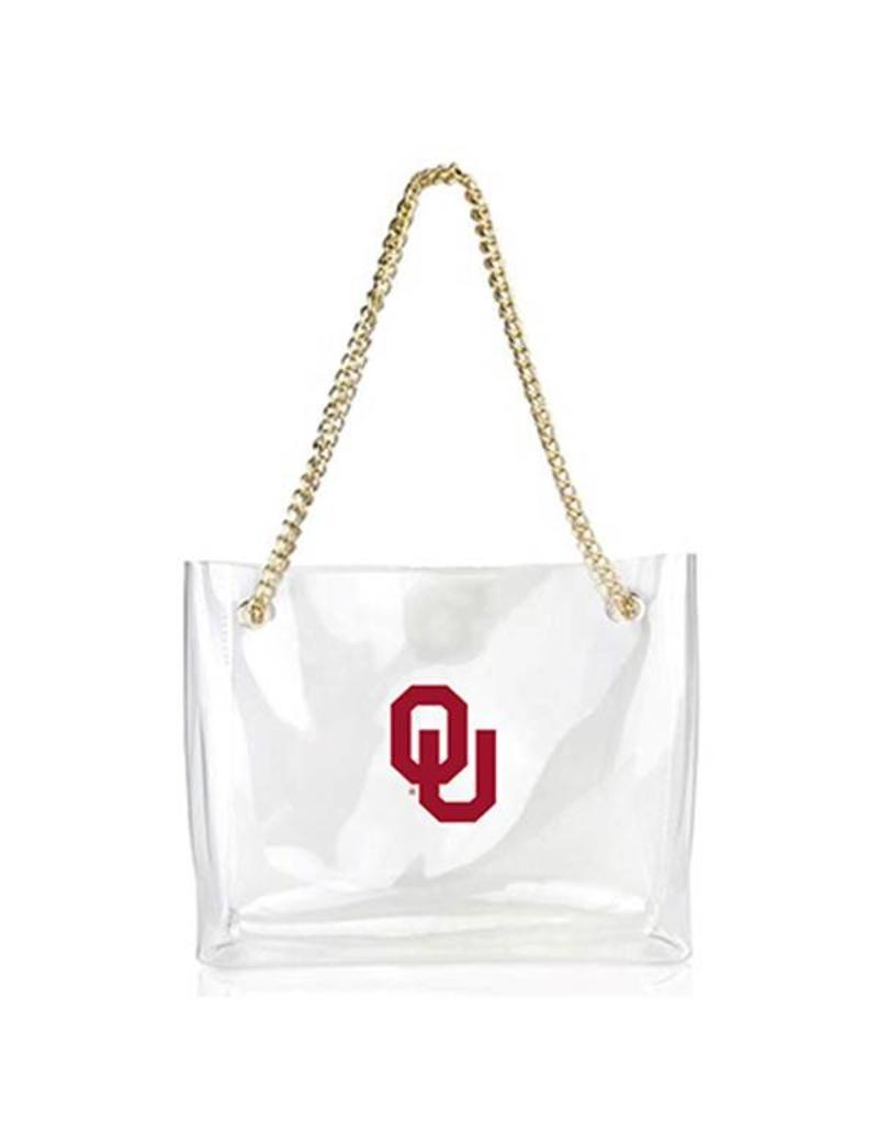 Desden Desden Clear OU Handbag w/ Gold Chain