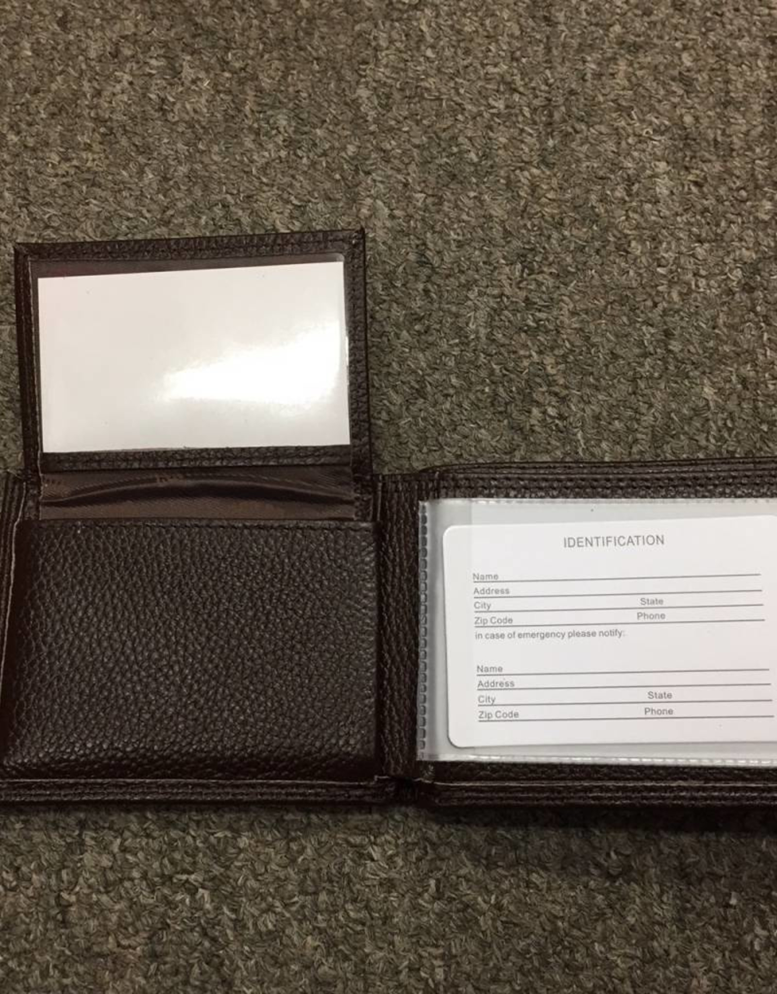 Zep-Pro Zep-Pro Brown Pebble Grain Passcase Wallet