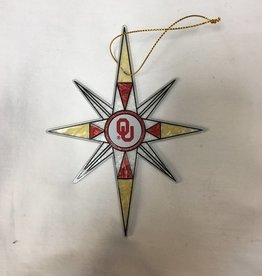 The Memory Company OU Stained Glass Star Ornament